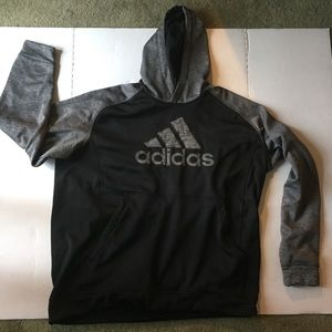 Adidas 2XLT black and gray hoodie climawarm